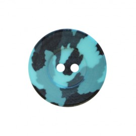 Bouton polyester Camouflage Army - turquoise