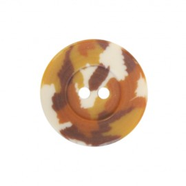 Polyester button Camouflage Army - caramel
