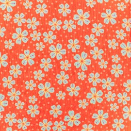 Tissu mousseline indian rhapsody - orange x 50cm