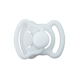 Mini boucle polyester 11mm - blanc