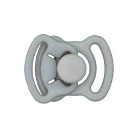 Mini boucle polyester 11mm - gris