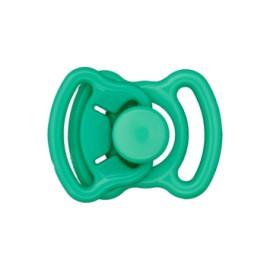Mini boucle polyester 11mm - vert prairie