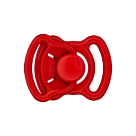 Mini polyester buckle - red