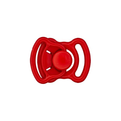 Mini boucle polyester 11mm - rouge