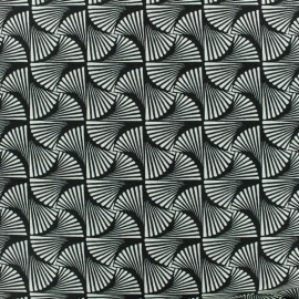 Viscose fabric -Tortiglioni - black and white x 10cm