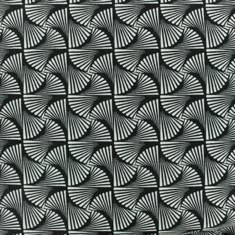 Tissu Viscose Tortiglioni - noir et blanc x 10cm