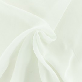 Coton viscose fabric - On a cloud - cloudy white  x 10cm