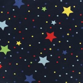 Tissu coton jersey Festivités - marine x 10cm