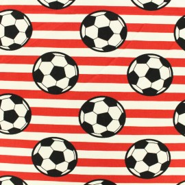 Jersey cotton fabric Round ball - red x 10cm