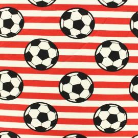Tissu coton jersey Ballon rond - rouge x 10cm