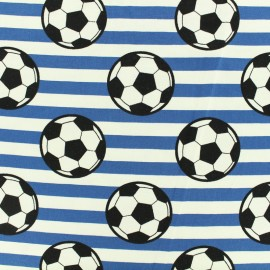 Jersey cotton fabric Round ball - blue x 10cm