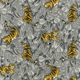 Tissu coton jersey Shere Khan - gris x 10cm