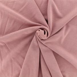 Tissu coton modal douceur - bois de rose x 10cm