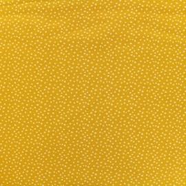 Tissu sweat léger Spritz - moutarde x 10cm