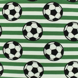 Jersey cotton fabric Round ball - green x 10cm