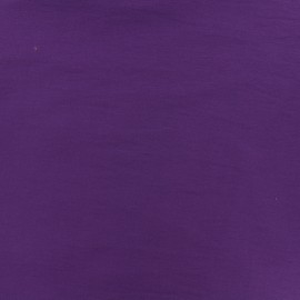 Plain Bengaline fabric - purple rain x 10cm