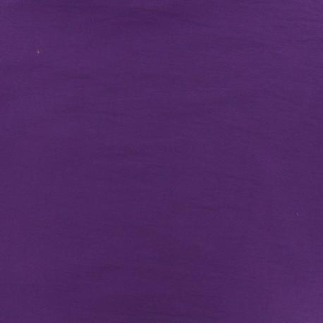 Plain Bengaline fabric - purple rain x 10cm