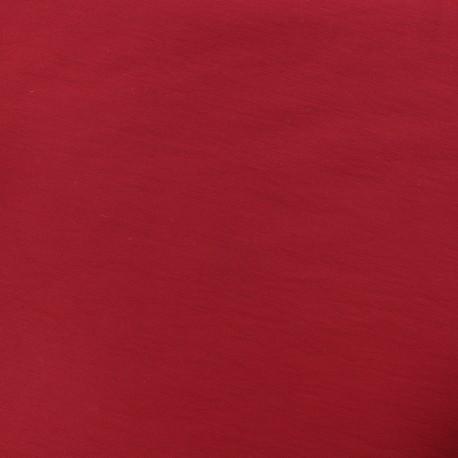Plain Bengaline fabric - ruby x 10cm