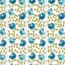 Tissu coton Dashwood Snow Forest - vole au vent x 10cm