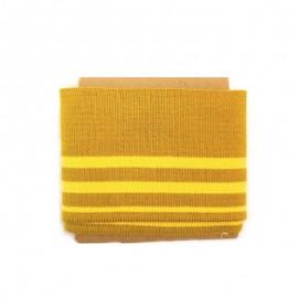 Bande bord côte rayures coton (108x7cm) - moutarde
