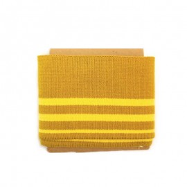 Striped cotton ribbed Cuffs (108x7cm) - mustard