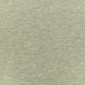 Tissu Jersey Phosphorescent Space - gris x 10cm
