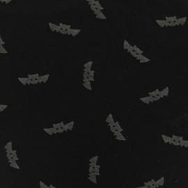 Tissu Jersey Phosphorescent Chauve souris - noir x 10cm