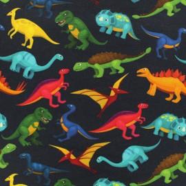 Poppy Oeko-Tex light sweat - Digital collection - Colorful Dino x 10cm