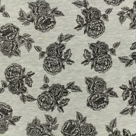 Poppy Oeko-Tex jersey - Romantic rose - grey chin x 10cm