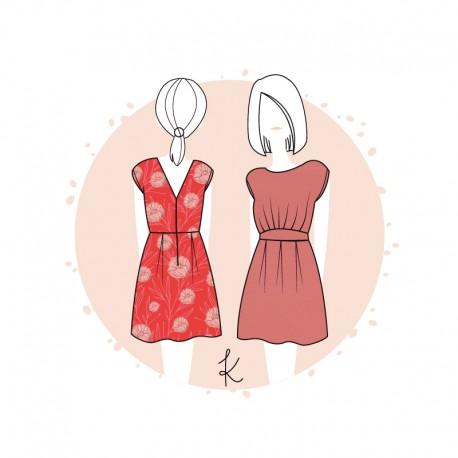 Anne Kerdilès Sewing pattern Dress - Andria