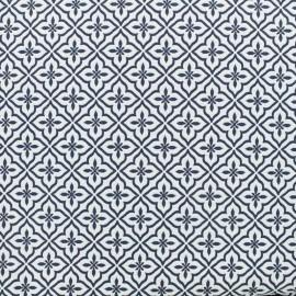 Tissu jacquard damassé Portugal - bleu x 10cm