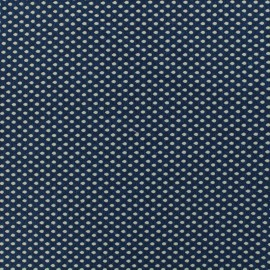 Jersey Damask fabric Dotty - blue x 10cm