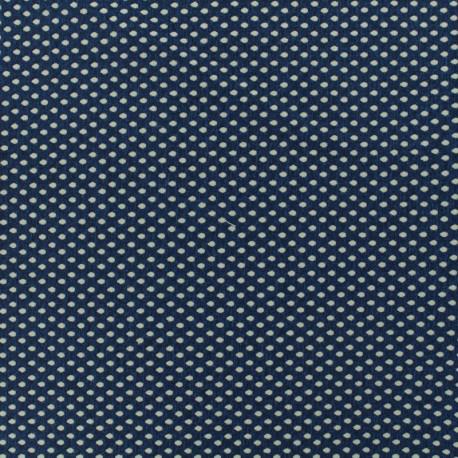 Jersey Damask fabric Dotty - blue x 10cm