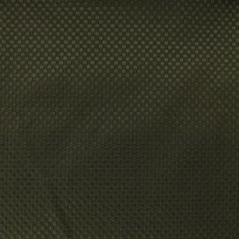 Tissu piqué de coton Squaree - kaki x 10cm