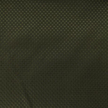 Waffle stitch cotton fabric - Squaree - khaki x 10cm