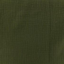 Tissu double gaze de coton MPM - brousse x 10cm