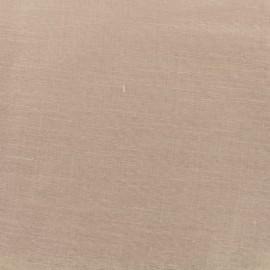 Tissu voilage poly lin Art Lino spécial rideaux - rose poudré x 10cm
