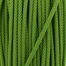 Braided cord 7 mm - olive green x 1m