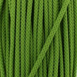 Cordon tressé 7 mm - vert olive x 1m