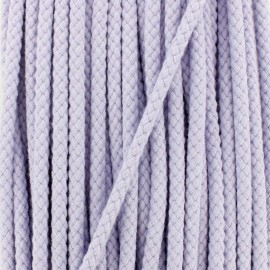 Braided cord 7 mm - lavender x 1m