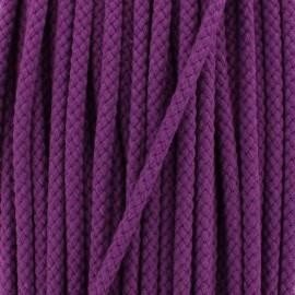 Braided cord 7 mm - plum x 1m