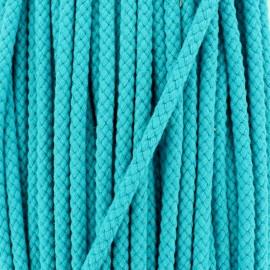 Cordon tressé 7 mm - turquoise x 1m
