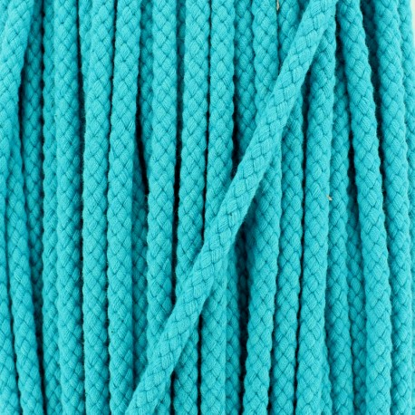 Braided cord 7 mm - turquoise x 1m