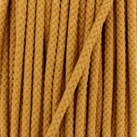 Braided cord 7 mm - camel x 1m