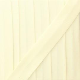 Biais jersey coton uni 20 mm - écru x 1m