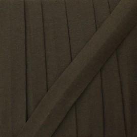 Biais jersey coton uni 20 mm - marron x 1m