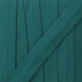 20 mm plain cotton jersey bias binding - lagoon x 1m