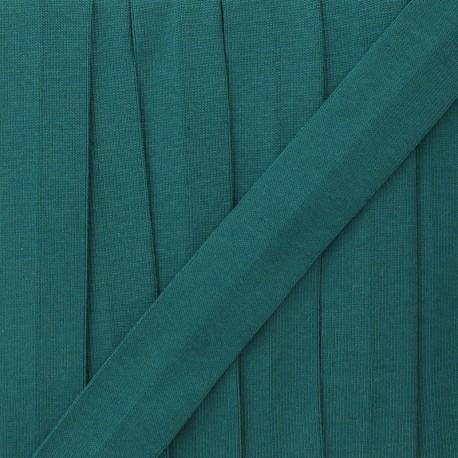Biais jersey coton uni 20 mm - bleu canard x 1m