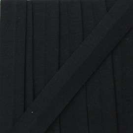 Biais jersey coton uni 20 mm - bleu marine x 1m