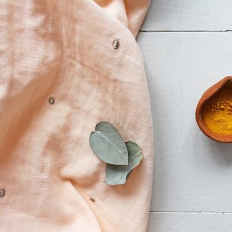 Tissu double gaze de coton Atelier Brunette - Stardust Powder x 10cm